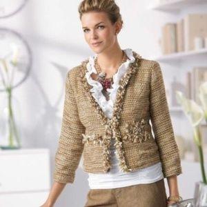 CAbi #349 Gold Tweed Jacket NWT - Size L